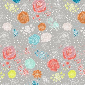 Retro Flower Polka