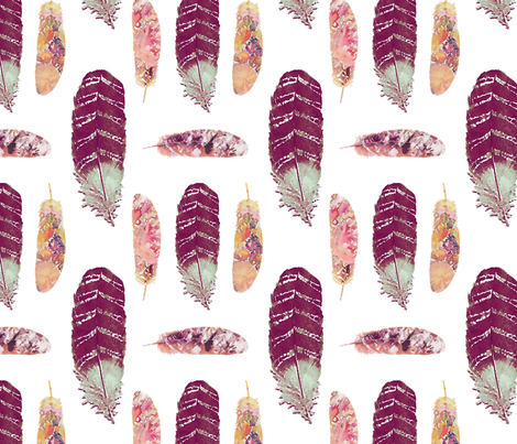 JL_WatercolorFeathers2_Spoonflower