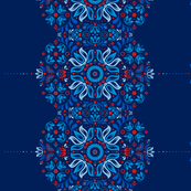 Folk Border in Navy