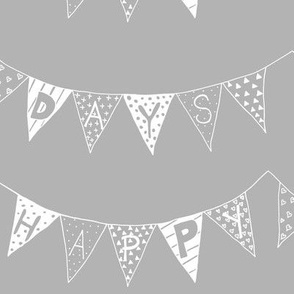 Happy Days Bunting Greyling