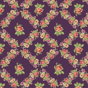 Purple Shabby Vintage Floral