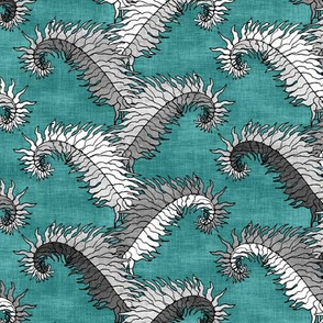 Silver Fern Stripe Teal