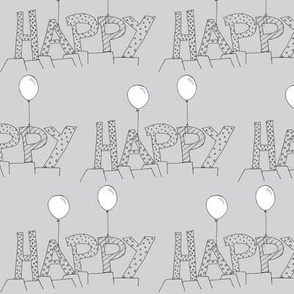 Happy balloons grey