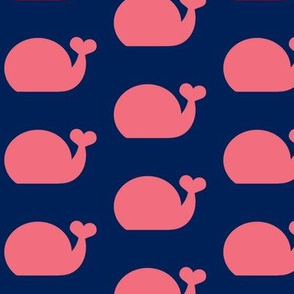 Whale - Cotton Candy Pink and Navy Blue
