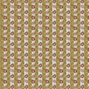 1820 Alternating leaf stripe calico 2