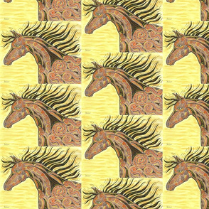 TRIBAL HORSE YELLOW
