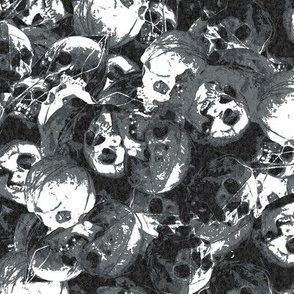 Regular pile of skulls halloween