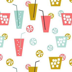 lemonade - citrus summer fun drinks mocktails cocktails summer design