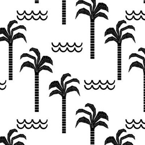 palm trees black and white minimal summer scandi kids hipster leggings design