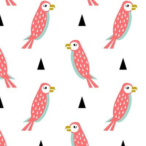 parrot - pink kids minimal cute triangle hipster baby design