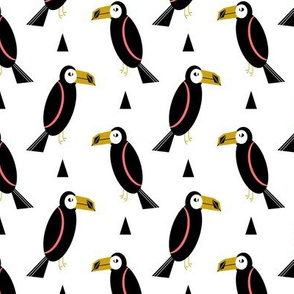 toucan bird print fabric textile design