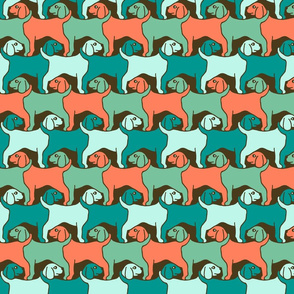 Surfing Dogs Tessellation