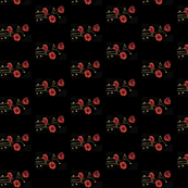 Poppies on Black