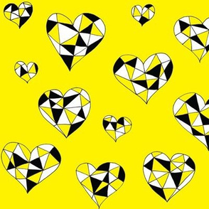 Geometric hearts sunshine