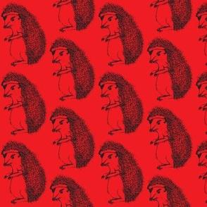 Badass Hedgehog Red