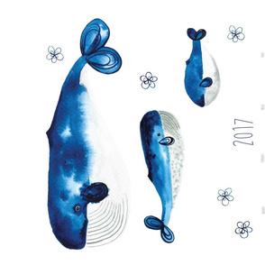 Whale 2017 calendar