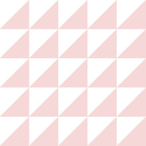 white pale pink half triangle