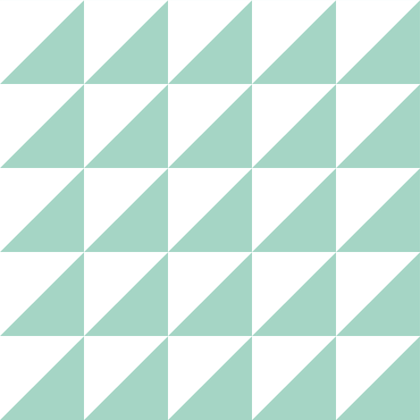 white mint half triangle