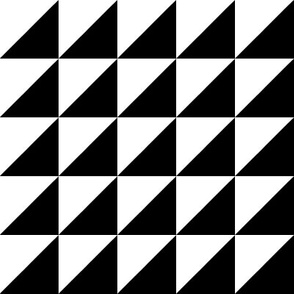 white black half triangle