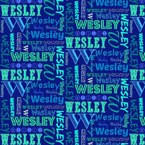 Wesley name quilt