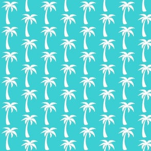 large aqua palms- deep teal