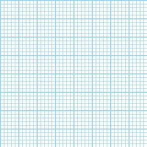 graph paper - light blue