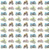 Four Bike Collage