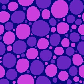Spots in pink and purple