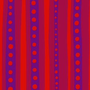 Stripes in purple and red