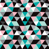 Pastel modern geometric triangle pattern SMALL