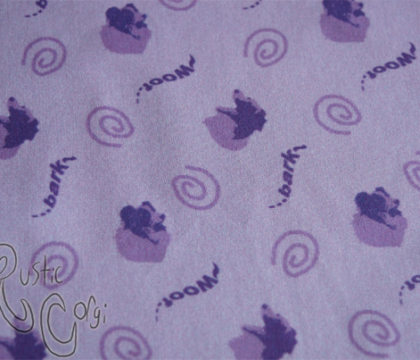 Whimsical barking Border Collies - purple