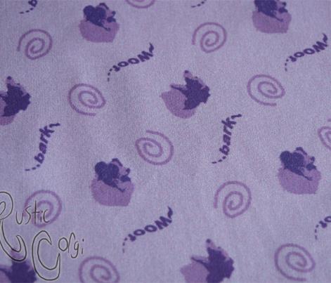 Whimsical barking Border Collies - purple