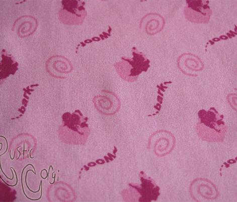 Whimsical barking Border Collies - pink