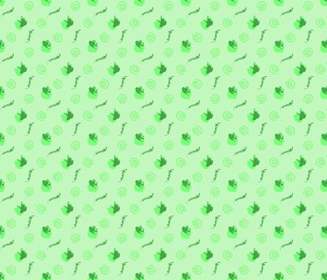 Whimsical barking Border Collies - green