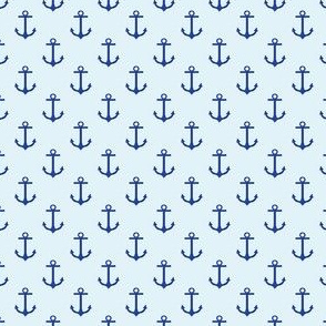 Preppy Anchor Sky Blue