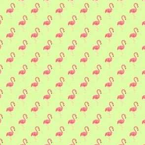Preppy Flamingo Pistachio