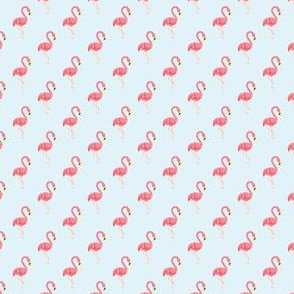 Preppy Flamingo Sky Blue