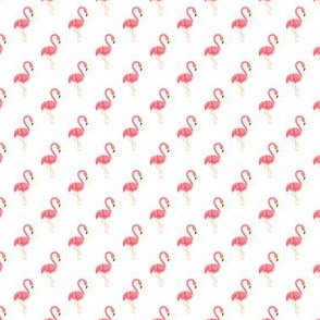 Preppy Flamingo White