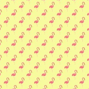 Preppy Flamingo Yellow