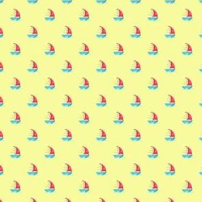 Preppy Sailboat Yellow