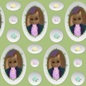 Peter Cottontail's Egg Plates ~ Small