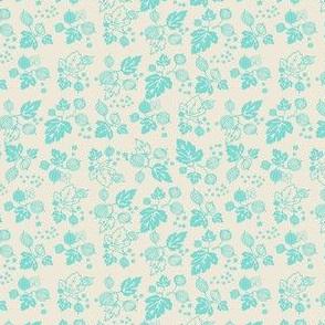 Turquoise On White Gooseberry