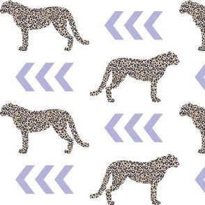 cheetah - lavender chevron arrow with leopard animal print