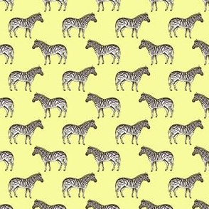 Preppy Zebra Yellow