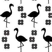 flamingo black and white minimal greyscale baby nursery design