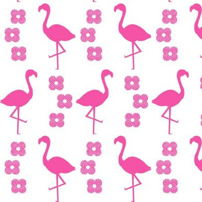 flamingo pink flower floral design