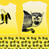 Banana/Monkey sleeveless top