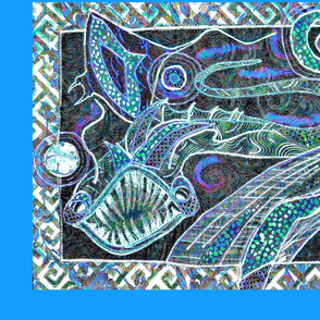 The Great Sea Monsters, blue-green