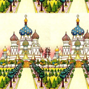 russian Kokoshnik castles Bochka roof cathedrals renaissance churches castles traditional gardens trees palace