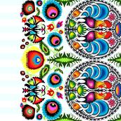 Wycinanka_003_Border_Print_Turquoise_Stripes